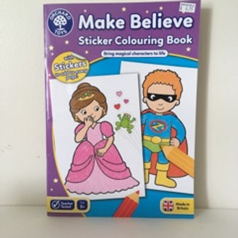 Make Believe Sticker Coloring Book