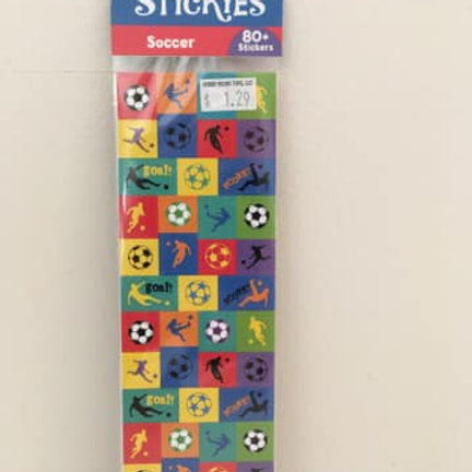 Itsy Bitsy Stickies, Soccer, 80 stickers
