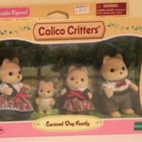 Calico Critters Caramel Dog Family