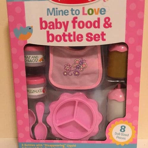 Melissa & Doug Baby Food & Bottle Set