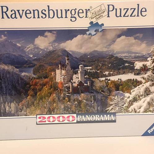 Ravensburger Puzzle 2000 PANORAMA Neuschwanstein Castle