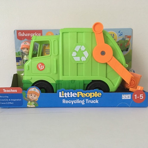 Fisher Price Little People Recycling Truck #GWD29