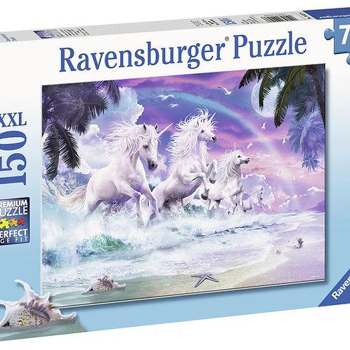 Ravensburger: Jigsaw Puzzle - Unicorns on the Beach 150 Piece - XXL Puzzle