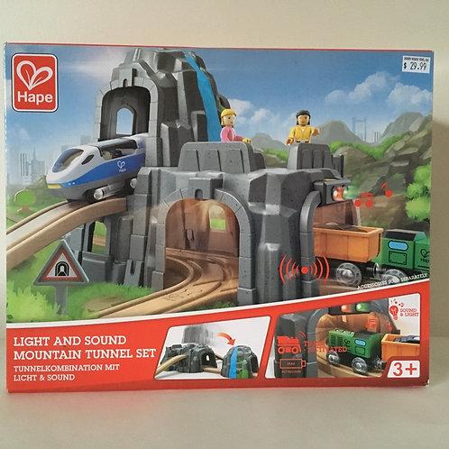 Hape Light & Sound Mountain Tunnel Set