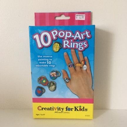 Creativity For Kids - 10 Pop Art Rings