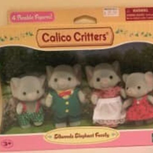 Calico Critters Ellwoods Elephant Family