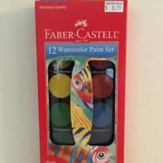 Faber Castell 12 Watercolor Paint Set