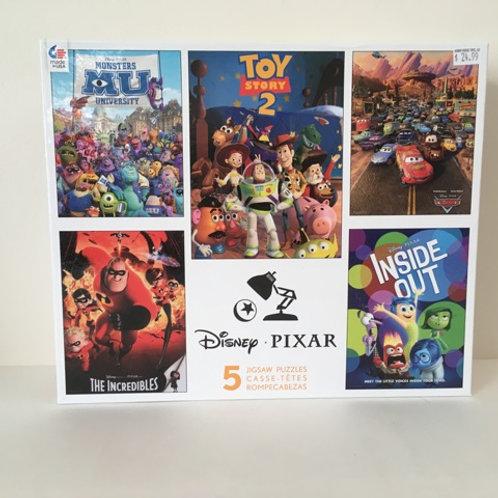 Ceaco Disney PIxar 5 in 1 Puzzles