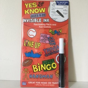 Lee Invisible Ink Yes & Know Facts & Games