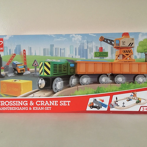 Hape Crossing & Crane Set