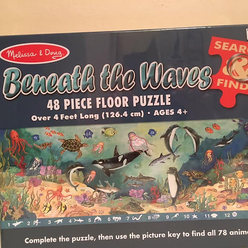 Melissa & Doug Beneath the Waves 48 Piece Floor Puzzle
