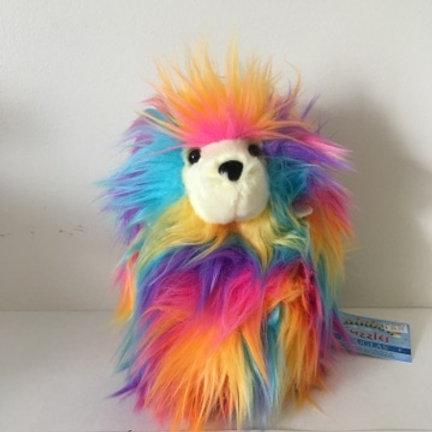 Douglas Rainbow Fuzzles Leon Hedgehog Plush