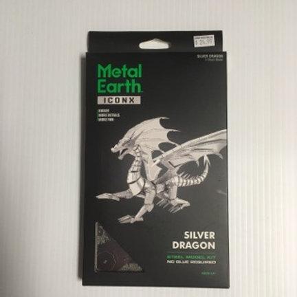 Metal Earth Silver Dragon