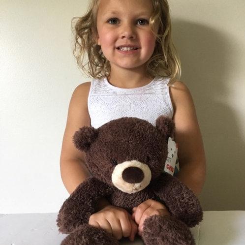 Gund Fuzzy Brown Bear Plush