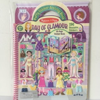 Melissa & Doug Puffy Sticker Activity Book - Day of Glamour