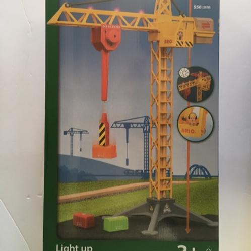 Brio World Light Up Construction Crane #33835