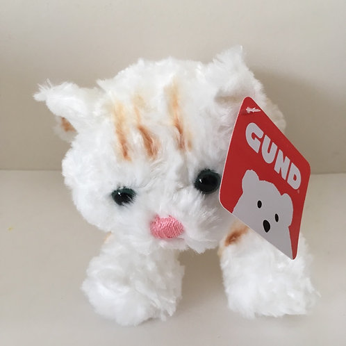 Gund Plush 8 inch White Cat - Bootsie