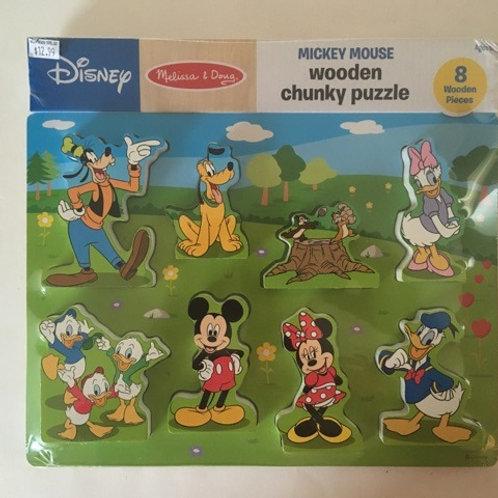 Melissa & Doug Disney Mickey Mouse Wooden Chunky Puzzle