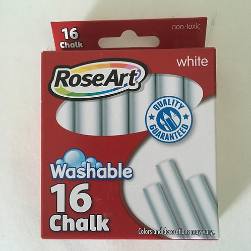 RoseArt Washable Chalk - White