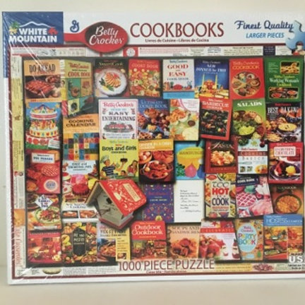 White Mountain 1000 pc Puzzle, Cookbooks