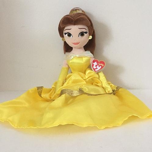 TY Sparkle Disney Belle Plush Doll