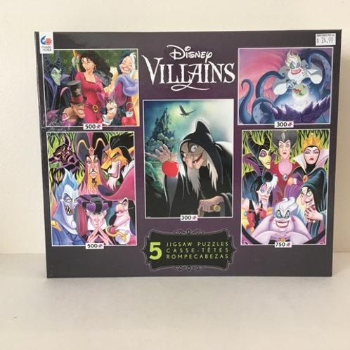Ceaco Disney Villians 5 in 1 Puzzle