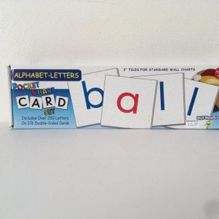 Alphabet Letters Pocket Chart Card Set