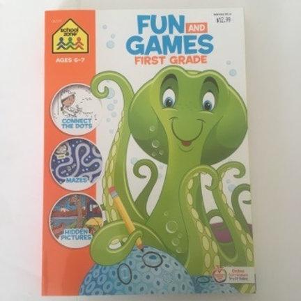 School Zone Fun & Games First Grade Book