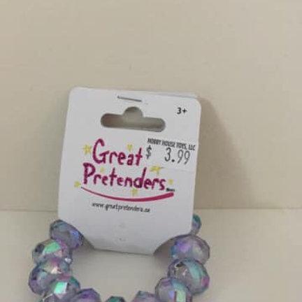 Great Pretenders, purple bracelet