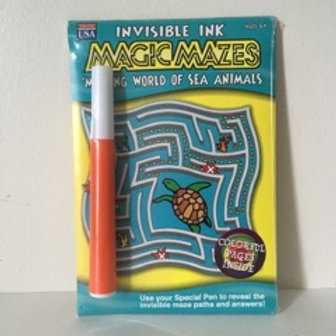 Lee Invisible Ink Magic Mazes - Sea Animals