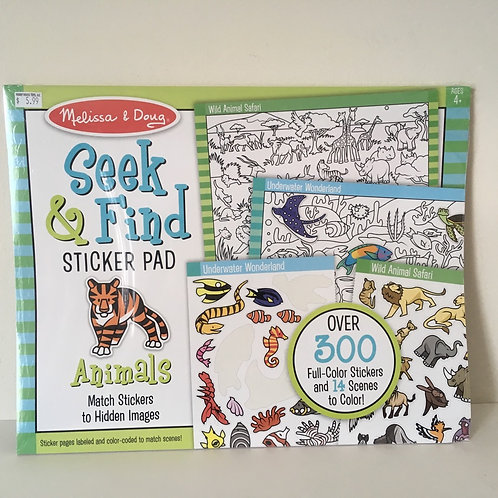 Melissa & Doug  Seek & Find Sticker Pad - Animals