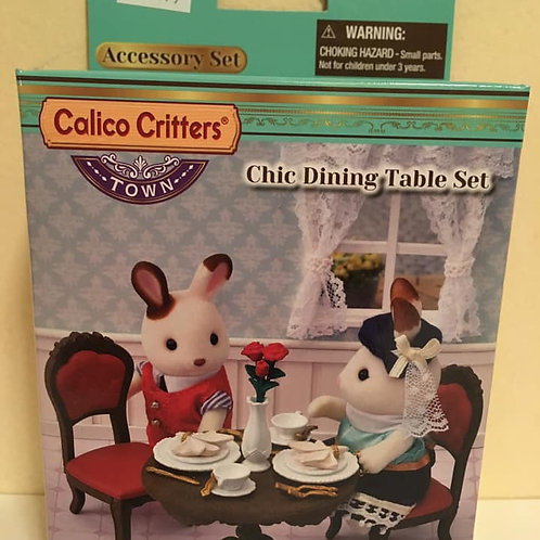 Calico Critters Chic Dining Table Set