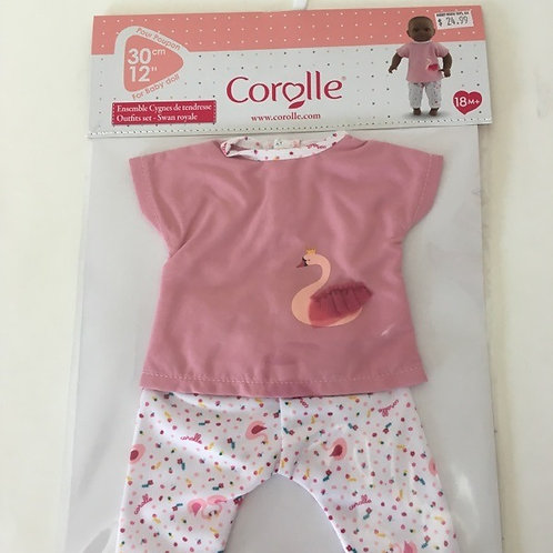 Corolle 14 inch Swan Royale Outfit #140620
