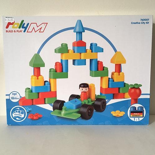 Poly M Flexible Building Set - Creative City Kit