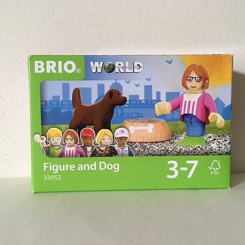 Brio World Figure & Dog - #33952