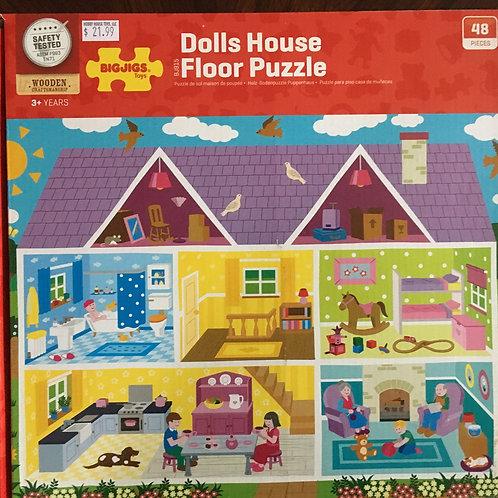Big Jigs Dolls House Floor Puzzle, 48 pc