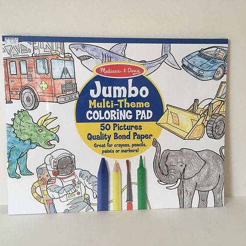 Melissa & Doug Jumbo Multi Theme Coloring Pad