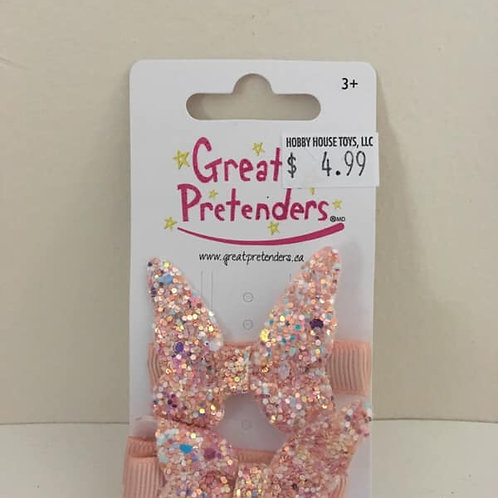 Great Pretenders 2 Pink sparkly bows