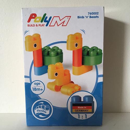 Poly M Flexible Building Set - Birds & Beasts