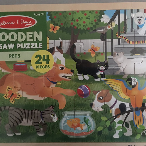 Melissa & Doug Wooden Jigsaw Puzzle - Pets