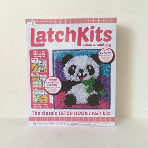 Classic Latch Hook Craft Kit - Panda 3D Mini-Rug