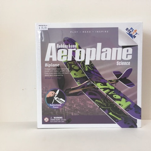 Play Steam Rubberband Aeroplane Science - Biplane