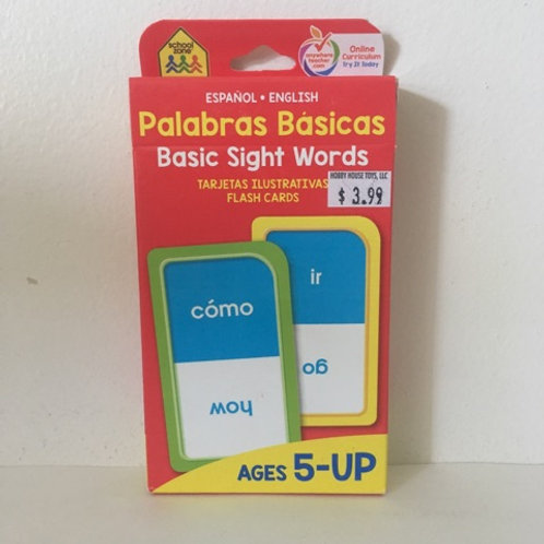School Zone Basic Sight Words Flash Cards