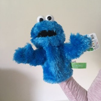 Gund Cookie Monster Puppet Sesame Street