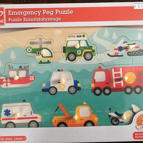 Hape Emergency Peg Puzzle