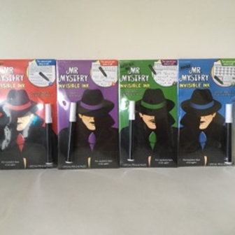 Lee Invisible Ink Mr Mystery Secret Agent Books - 4 Types.