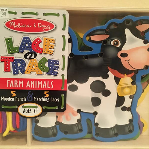 Melissa & Doug Lace and Trace, FARM ANIMALS