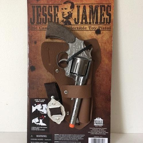 Parris Die Cast Metal Collectible Toy Pistol - Jesse James
