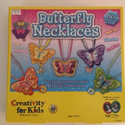 Creativity for Kids, Butterfly Necklaces Craft