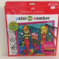 Faber Castle paint by number, mermaid